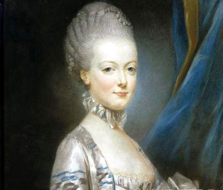 18世纪   虽然在半个世纪前深色头发远比金发时髦,连国王戴