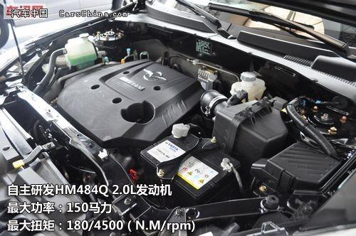 0l发动机,最大功率为150马力,最大扭矩180/4500(n·m/rpm).