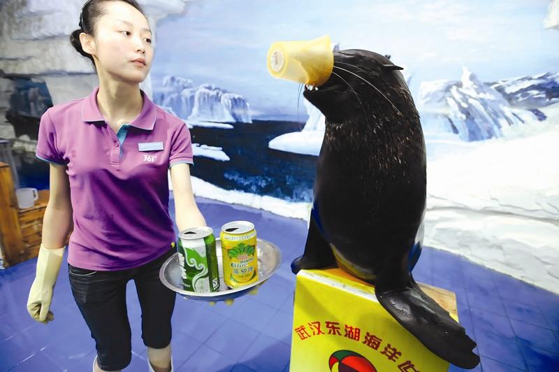 新闻 正文    图为:李思在指挥海洋动物表演节目   图为:大黑熊在陈秋