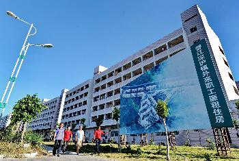 这是福建省晋江市深沪镇外来职工廉租住房小区(9月29日摄).