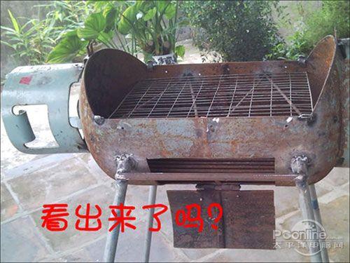 廢物利用啊.; 自制燒烤爐; 自助燒烤吃起來