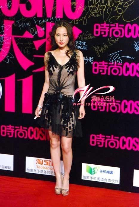 刘诗诗扮图片与张柏芝拼凉鞋女神性感美女气质夏天穿图片
