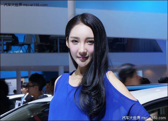 蓝衣瓜子脸美女