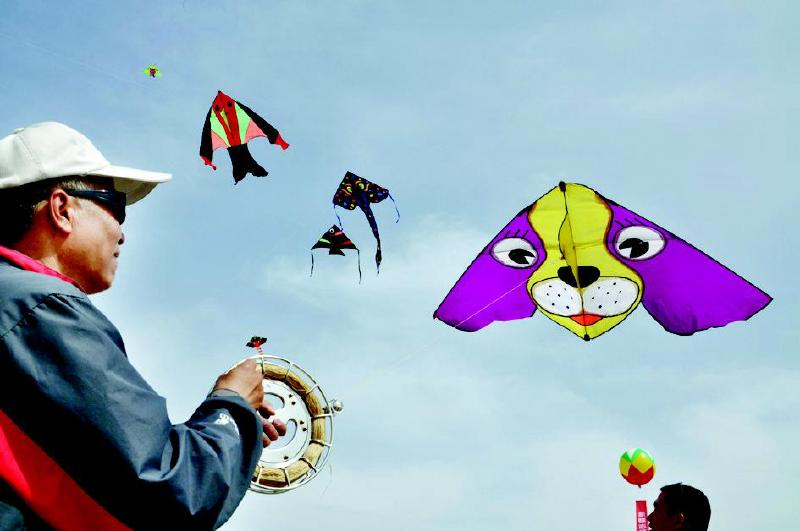 """了以""""畅游金沙滩放飞中国梦""""为主题的首届新疆金沙滩风筝艺术节活动"""