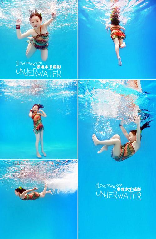 儿童照新风向 拍超可爱的儿童水下摄影