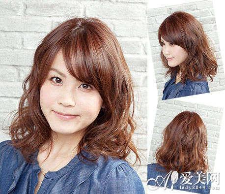 斜刘海梨花头-甜美减龄梨花头 女生首选潮流卷发