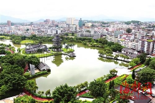 漳浦县城绥安镇西湖公园 高清图片