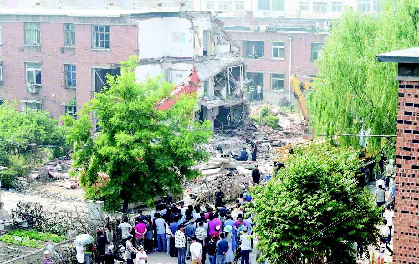 辽宁葫芦岛一居民楼爆炸