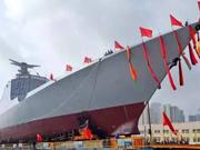外媒称中国第12艘052D驱逐舰开工