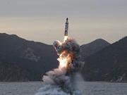 韩国军方称朝鲜发射一枚潜射导弹